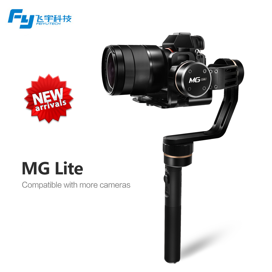 Feiyu fy MG Lite 3 axis Gimbal for Sony NEX-5N/NEX-7 N-series SONY A7RII ILCE-7R ILCE-5100 Panasonic LUMIX GH4 Canon FY MG Lite free shipping lamtop hot selling original lamp with housing dt01021 for hcp 380wx hcp 380x
