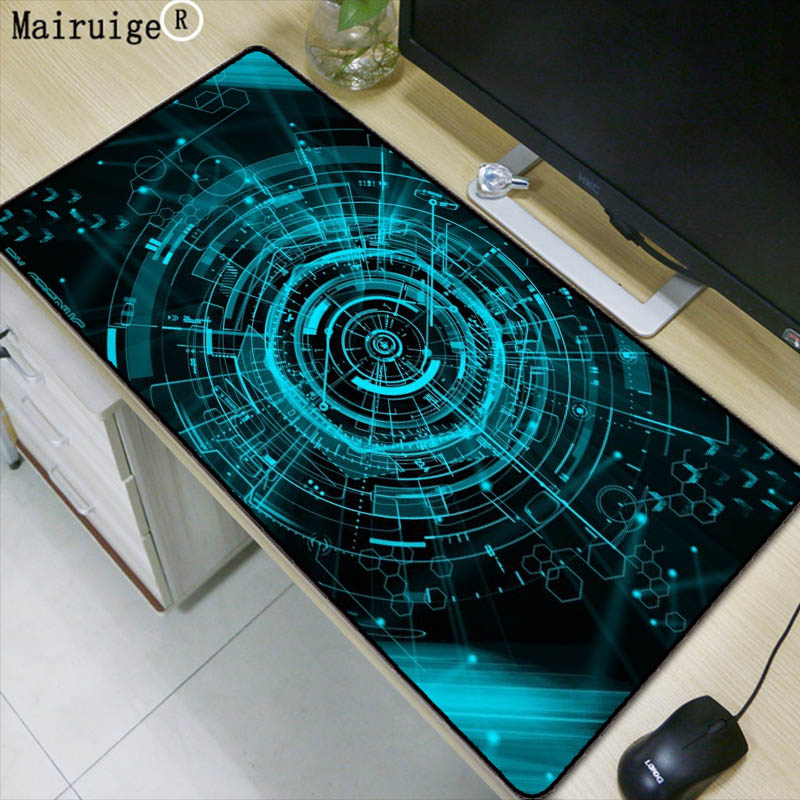 лучшая цена Mairuige Green Light Extra Large Mouse Pad Gaming Waterproof Mousepad Anti-slip Natural Rubber Gaming Mouse Mat with Lock Edge