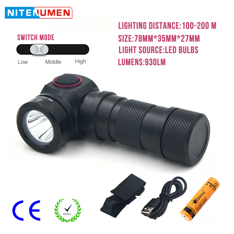 LED Flashlight Usb Rechargeable Aluminum Waterproof Flashlight Portable Outdoor LED Lamp With 18650 Battery For Camping