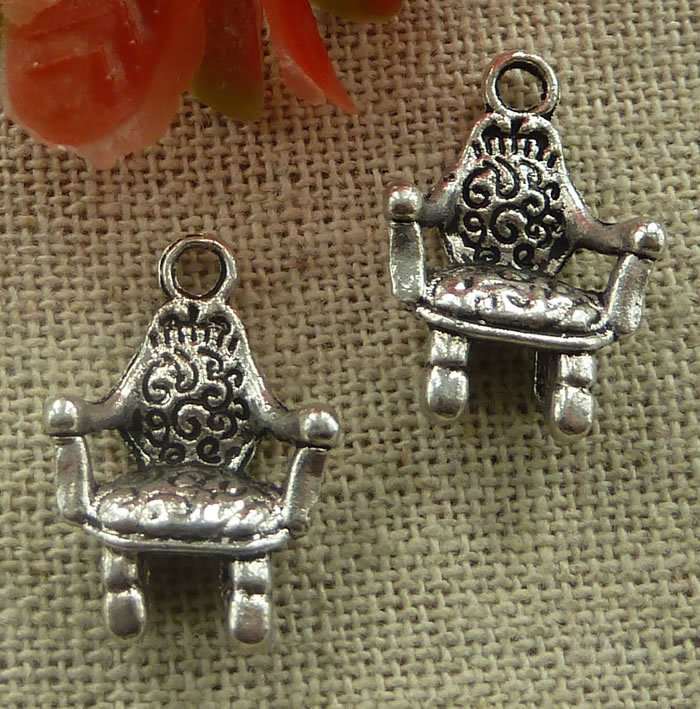 Responsible 120 Pieces Tibetan Silver Chair Charms 20x13mm #2159 Charms