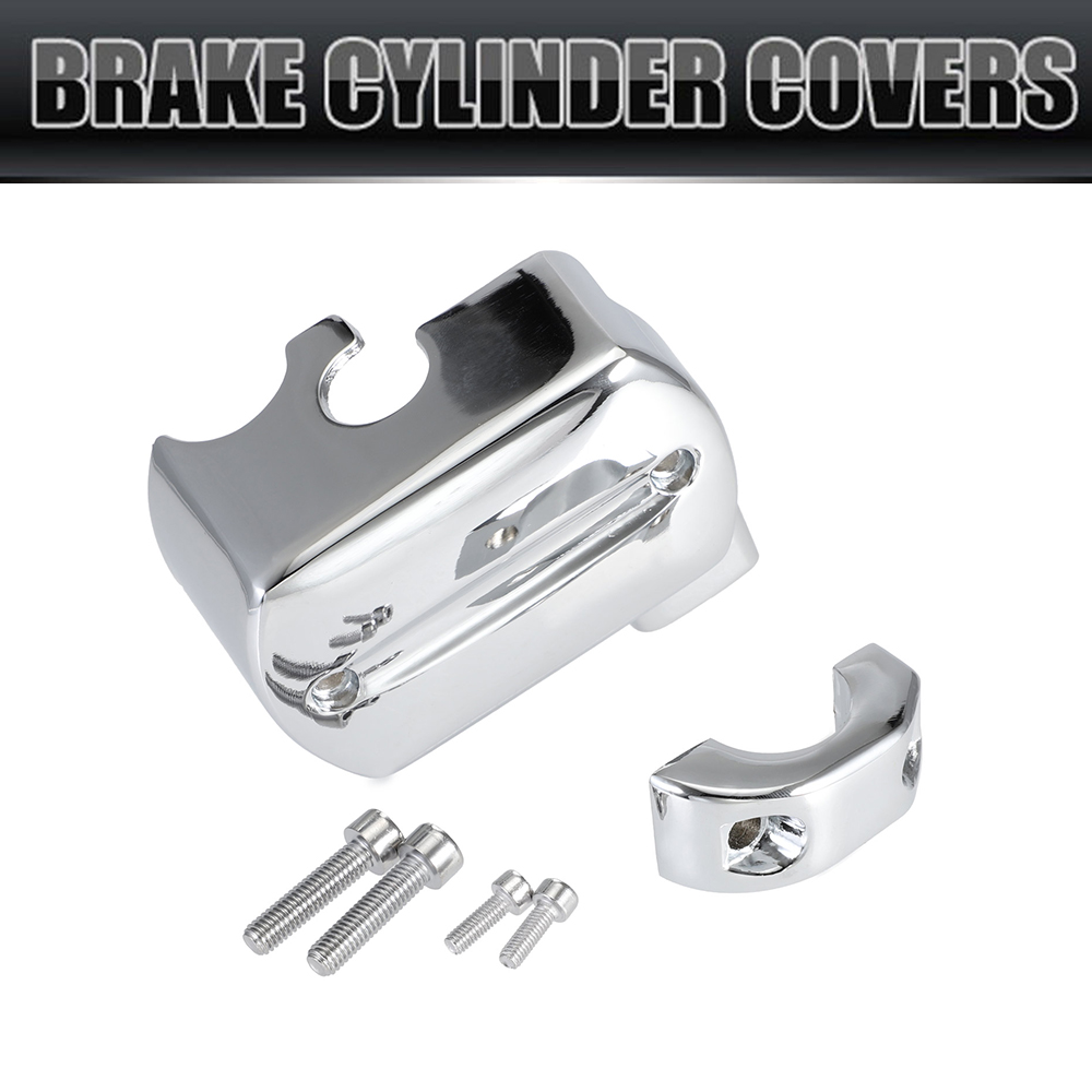 Chrome Brake Master Cylinder <font><b>Cover</b></font> For <font><b>Yamaha</b></font> V-Star <font><b>XVS</b></font> <font><b>650</b></font> 1100 1999-2007 Reservoir Freeshipping D05 image