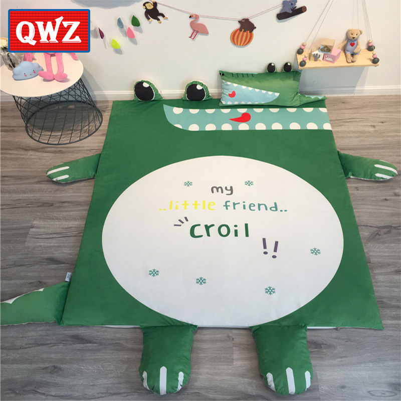 QWZ INS Style Large Bed Mat Tatami Mattress Household Folding Non-slip Super Soft Baby Play Mat Crawling Blanket Floor Rug Mat bookcase super soft non slip bath door mat machine washable quickly drying