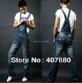 2016 Плюс размер мульти-карман мужской моды случайные джинсовой комбинезон stright джинсы комбинезоны с нагрудниками брюки рабочая одежда xxxl, xxxxl, xxxxxl