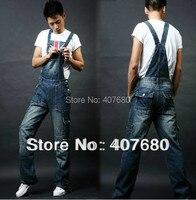 2013 Plus Size Multi Pocket Men S Denim Jeans Spaghetti Strap Jumpsuit Pants Fashion Casual Overalls