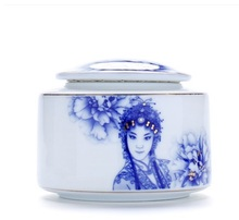 Tea, ceramic packaging cans, special storage tea boxes, wholesale special, blue and white porcelain