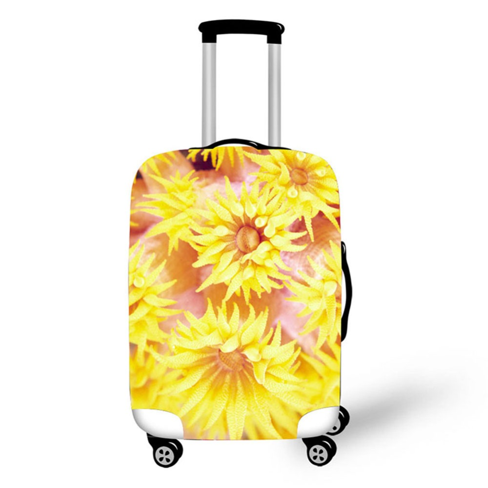 Sea Coral Print Travel Accessories Suitcase Protective Covers 18 32 Inch Elastic Luggage Dust Cover Case Stretchable in Travel Accessories from Luggage Bags