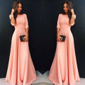Women Dress New Style Floor Length Long Dresses Solid Casual O Neck Sexy Girl Vestidos Ukraine Party Dresses