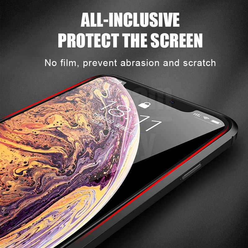 فاخر جلد بولي Silicone سيليكون لينة حقيبة لهاتف أي فون 7 8 6 6s PLus X غطاء كامل آيفون 11 برو X Xr Xs ماكس حافظ مضاد للصدمات
