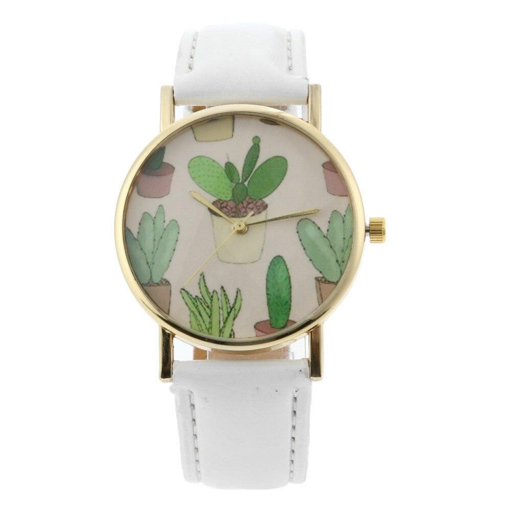 цена на Big Dial Cactus Ladies Watch Quartz Women's Watches Clock montre femme reloj mujer saat Girl Valentine's Day Gift
