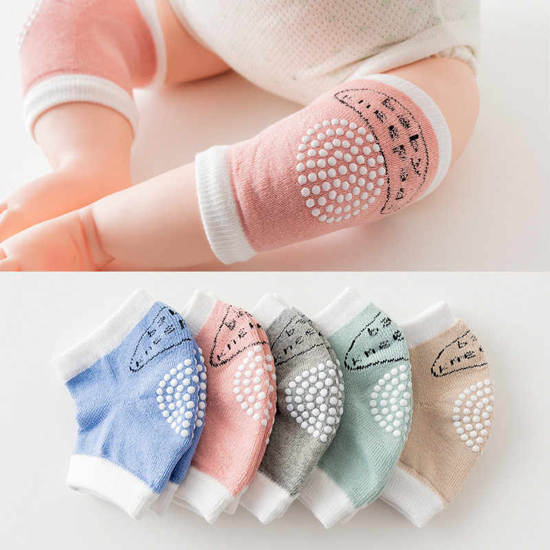 0-18 Months babys Non-slip Baby Kneecap Summer Children's Cotton Knee Pad Baby Crawling Knee Pads Terry Thick Mesh Breathable