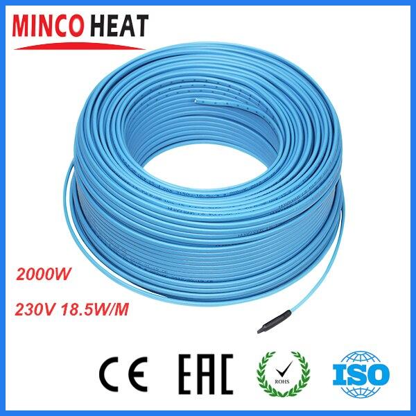 Electical Under Floor Heating System Kit Carbon Fiber PVC Undertile ...