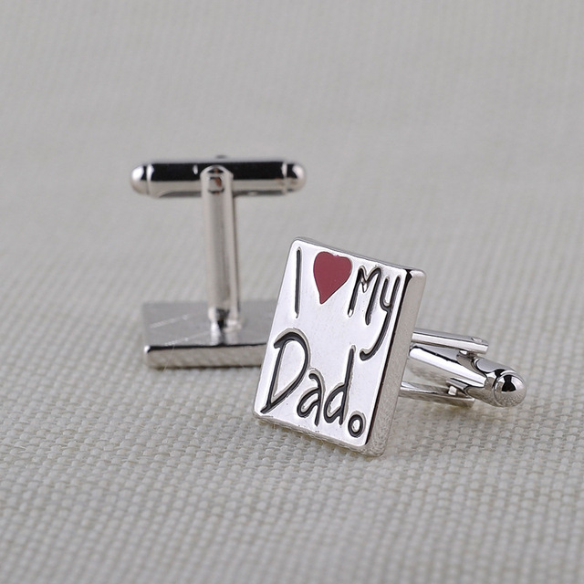 """I Love My Dad"" Squared Cufflinks"
