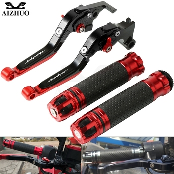 Motorcycle Brake Clutch Lever Extendable+Handle Grips Handlebar For HONDA CB599/CB600F HORNET 1998-2006 2005 2004 2003 2002 2001