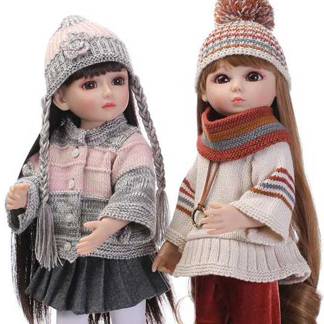 45 Cm Verbunden Puppen Für Mädchen Bjd Puppen Vinyl Körper Blond