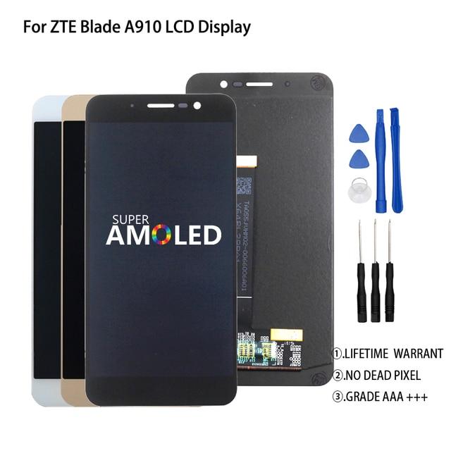 Оригинальный 5,5 дюймов для ZTE Blade A910 BA910 TD LTE ЖК дисплей кодирующий преобразователь сенсорного экрана в сборе идеальная запасная часть Бесплатные инструменты