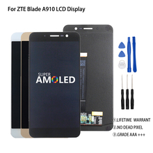 Original 5.5 inch For ZTE Blade A910 BA910 TD-LTE LCD Display Touch Screen Digitizer Assembly Perfect Repair Part Free Tools