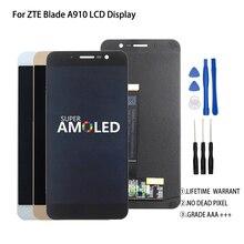 Oryginalny 5.5 cal dla ZTE Blade A910 BA910 TD LTE wyświetlacz LCD ekran dotykowy Digitizer zgromadzenie idealne naprawa część z bezpłatnych narzędzi w