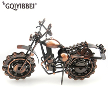 GQIYIBBEI Hand Soldering Motorcycle Model Metal Moto Collection Miniature Garden Home Decor Ornaments For Motocycle Lovers