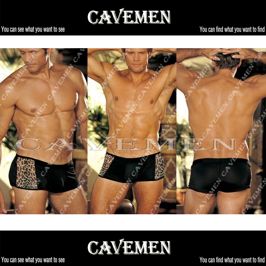 Both sides of the leopard modification * 3115 *sexy men lingerie T-Back Thong G-String T pants Brief Underwear free shipping