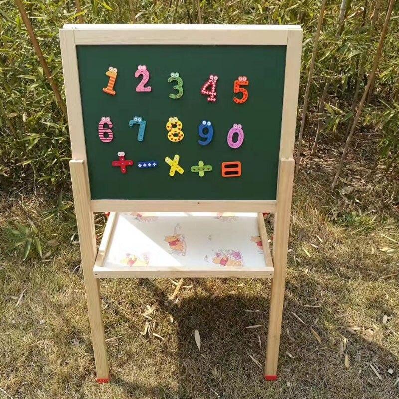 15 шт./компл. Горячая образования узнать пять символов магнит деревянные наклейки на холодильник детские игрушки 10 номер милый парень