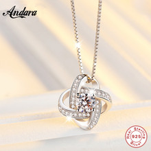 100% Sterling Silver 925 Jewelry Necklace Pendant Eternal Heart Womens Chain Length 45 cm