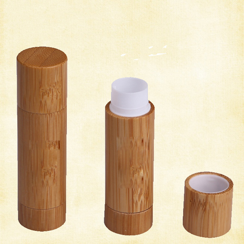 5.5ml DIY Bamboo Empty Lip Gross Container Lipstick Tube Container Lip Balm Tubes Bamboo Lipstick Tube