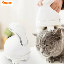 VOVOPET Electric Pet Cat Massager comb Handhold Adjustable Speed USB charging Detachable 3D Head Massage Pets Grooming brush