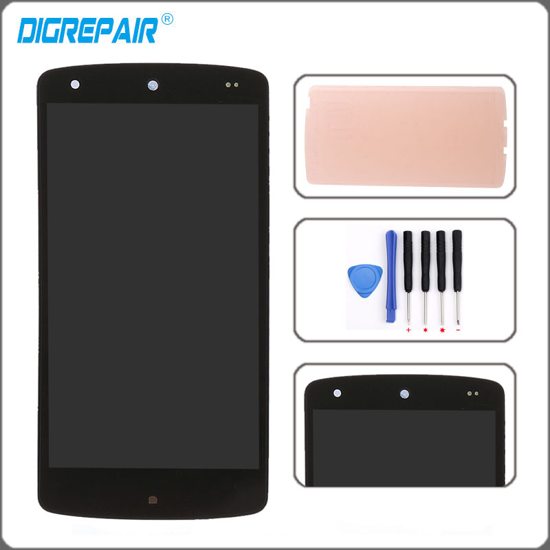 LG Google Nexus 5 LG D820 D821 Black LCD Touch Digitizer Screen Assembly with Housing Frame Replacement Part