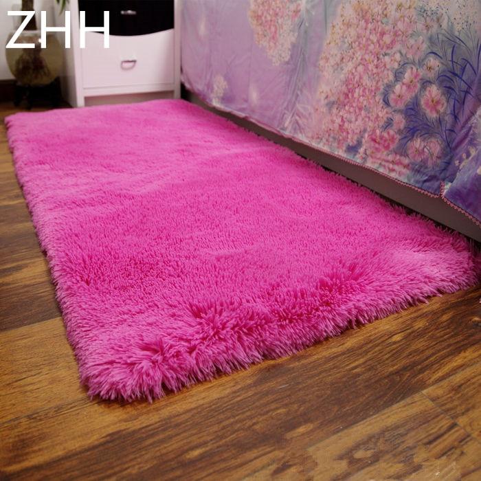 €10.4 37% de réduction|Pas cher prix 50*160 cm en peluche Shaggy tapis doux  tapis antidérapants tapis de sol pour salon chambre fournitures de ...
