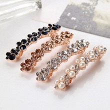 1 Pcs Fashion Crystal Rhinestone Pearl Hairpins Girls Barrettes Hair Clip Clamp Jewelry Styling Tools Women Hair Accessories
