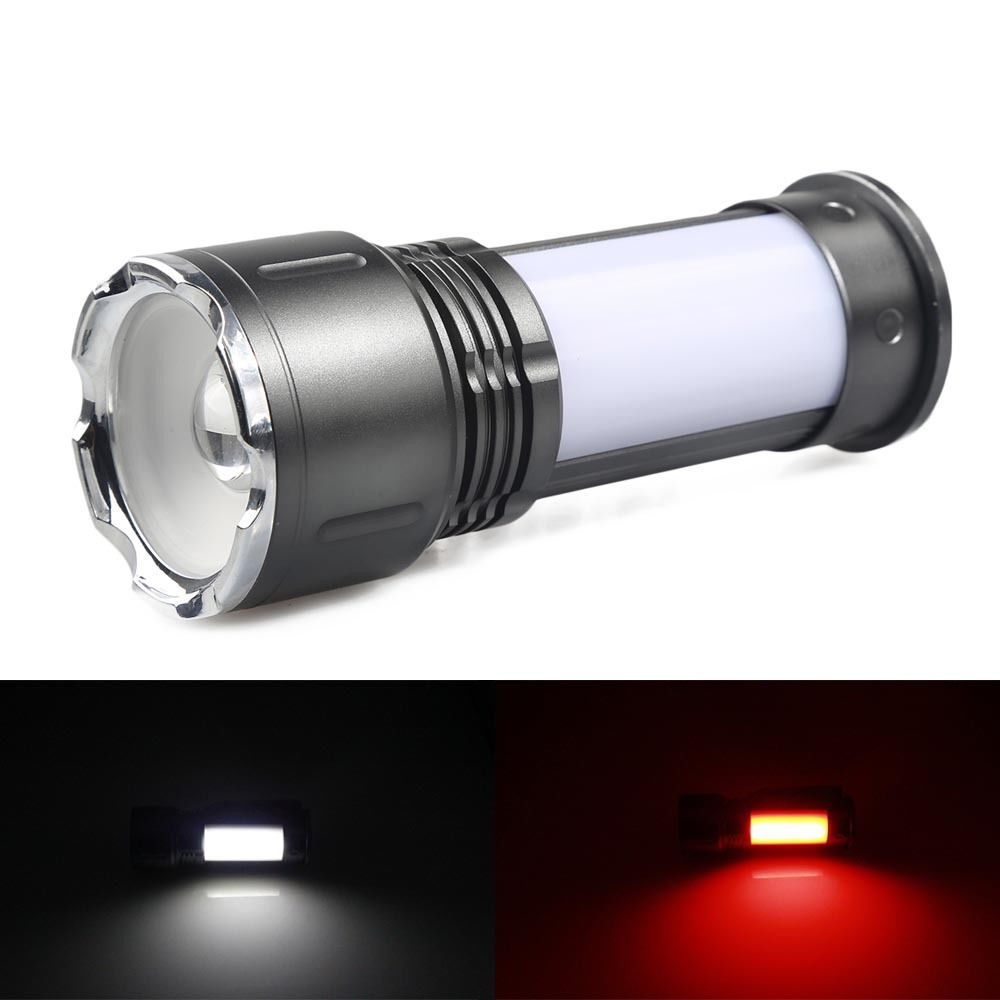 Zoomable CREE XM L Q5 lantern portable Hand lamp handlamp flashlight high power led flashlight rechargeable