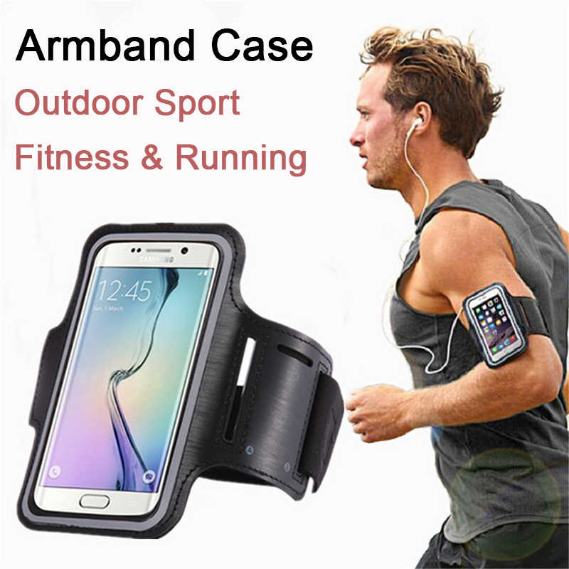 "High Quality Waterproof 5.5"" Gym Running Phone Bag Arm Band Case for iPhone 7 Outdoor Sports Phone Holder Armband Case for J4 J6"
