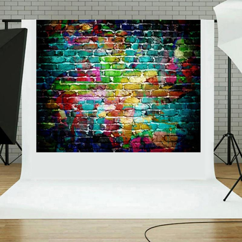 ALLOYSEED 3D Effect Photo Live Background Backdrop Graffiti Brick Wall Art Fabric Backdrop Props Photography Background