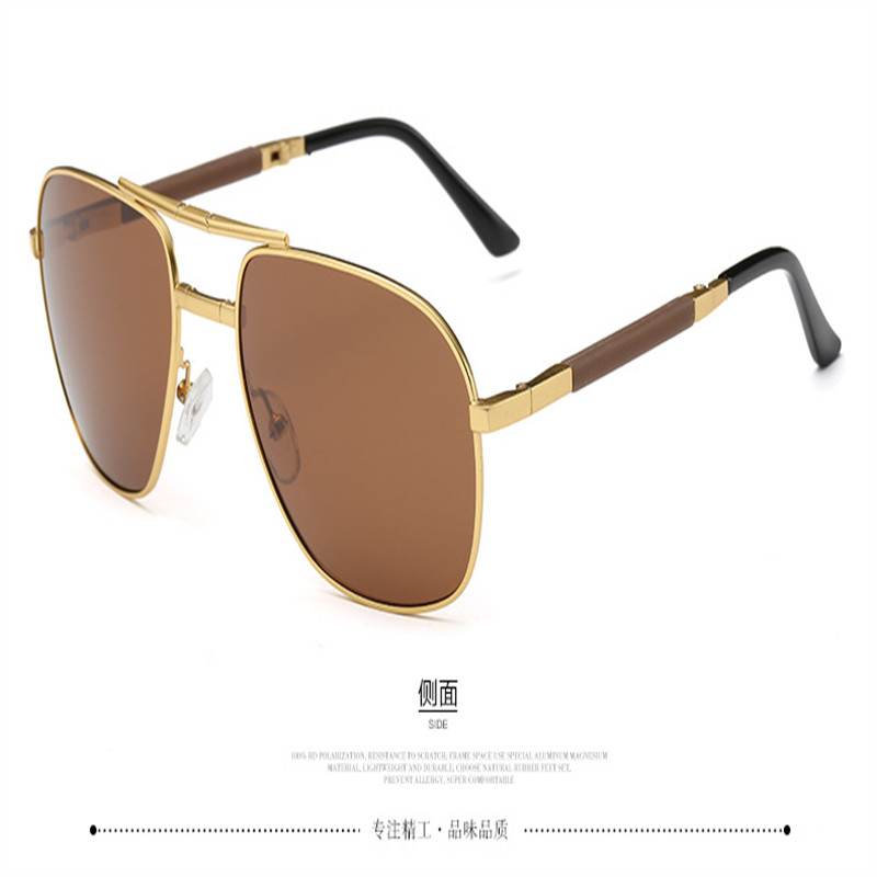 Image 3 - Olvio Vintage Folding Pilot Sunglasses Men Polarized Fashion Brand Designer Foldable Glasses Mirrored Sun Glasses For Men Oculos-in Men's Sunglasses from Apparel Accessories