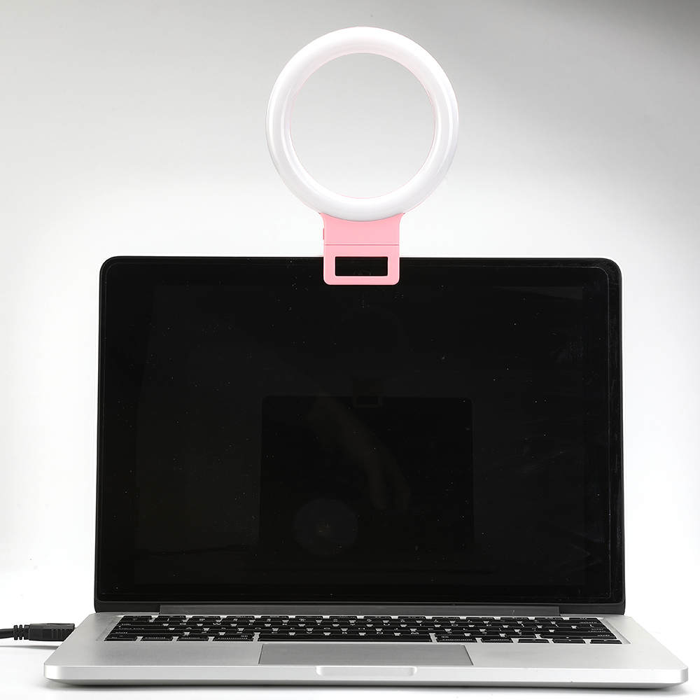 Portable LED Selfie Ring Light For PC Laptop IOS Android Phones Photography Ring Selfie Clip Lamp 3-Mode Video Youtube Vlogger