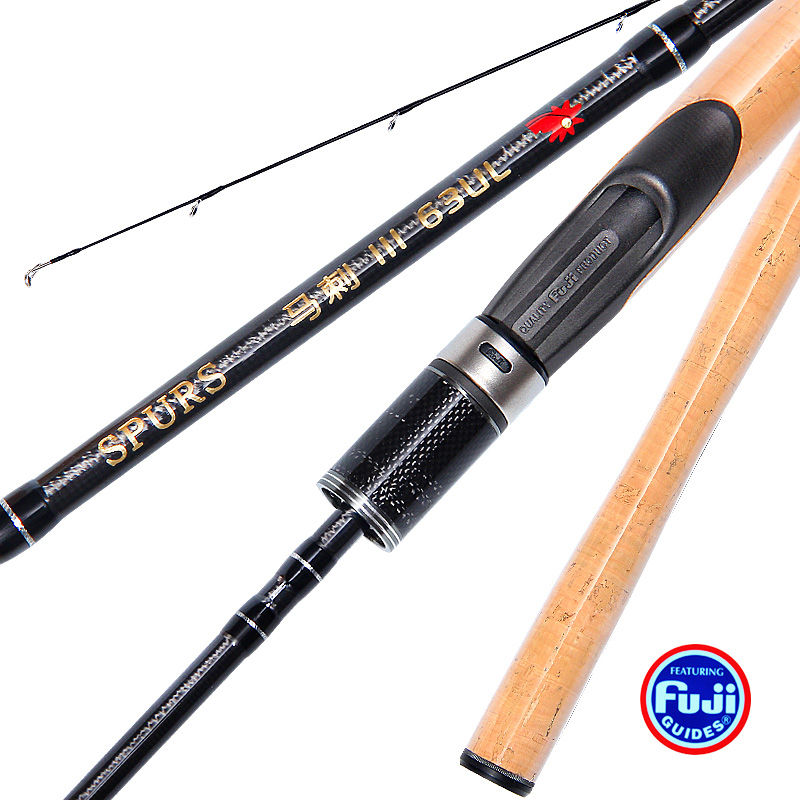 1.9 m high carbon ULspinning handle Ultra light Teton Casting / Spinning Lure Rod with FUJI parts fast rod wood handle 2 18m 110g ultralight soft lure rod ul l slightly grip spinning and casting handle fuji parts toray30t carbon lure weight 1 18g