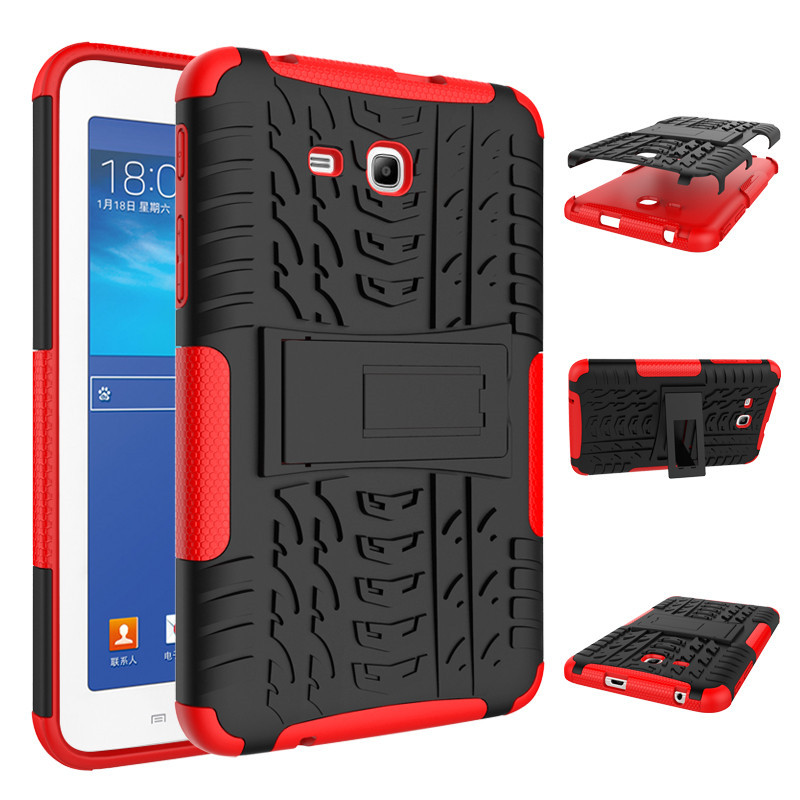 For Samsung Galaxy Tab 3 Lite 7 0 Case Hybrid Armor Shockproof Rugged Dual Layer Cover T110 T111 In Tablets E Books
