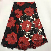 ZQM!African Lace Fabric 2019 High Quality Milk Silk Applique Lace Stones French Net Tulle Lace Fabric For Party Dress ! P50601