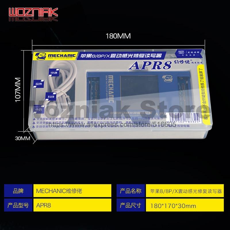 Fotorreceptor MECÂNICO LCD repair programador Para Iphone 7g/7 p/8g/8 p/X fotossensível Vibração read-write modificação Inglês