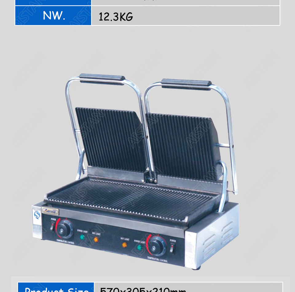 EG811/EG813/EG815 Single/Double Plate Commercial Electric Table Top Panini Grill Machine of Catering Equipment 9