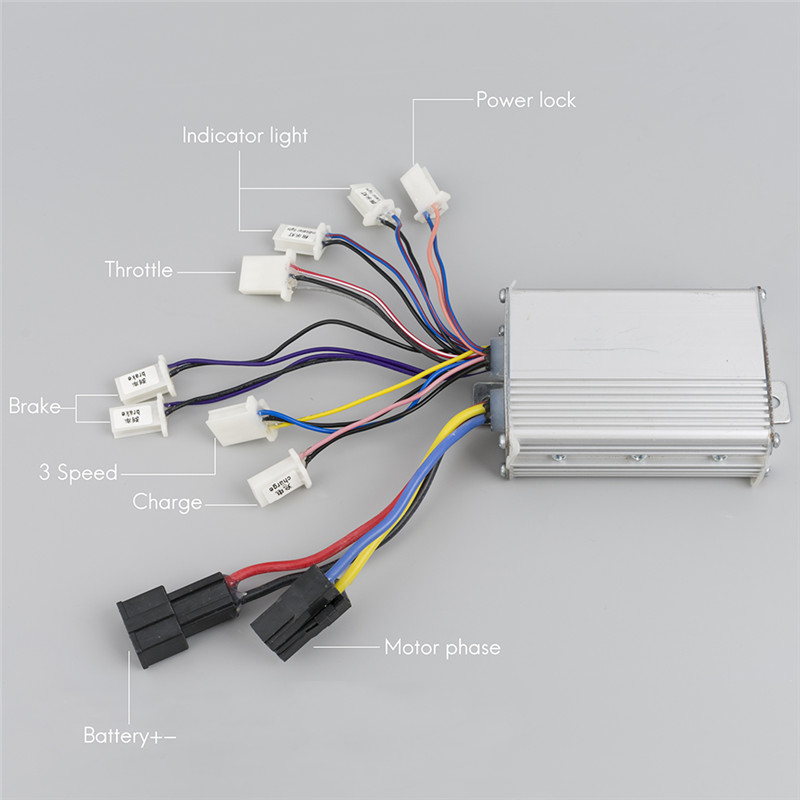 Electric Bicycle 36V Controller Electric Scooter Brush Controller 48V 1000W  Wheel Motor Spare Parts For Electric Bicycles