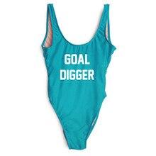 GOAL DIGGER купальник женский цельный купальник бикини Прозрачный телесный высокий эротичный Вырез Монокини забавные купальные костюмы maillot de bain