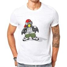 Penguin T Shirt Men Short Sleeve Hip Hop Rock Printed Male White T-Shirt Cotton Casual Mens Tee Funny Tshirt Poleras Hombre 2019