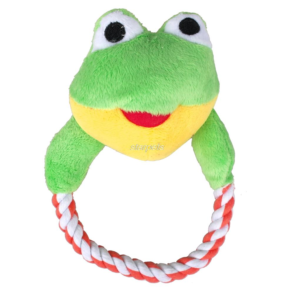 Squeaky Frog Dog Toy