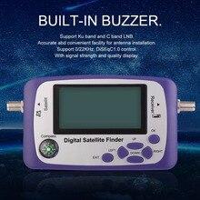 Digital Satellite TV Receiver Satellite Finder TV Signal Receiver Satlink Receptor Buzzer LCD FTA Dish