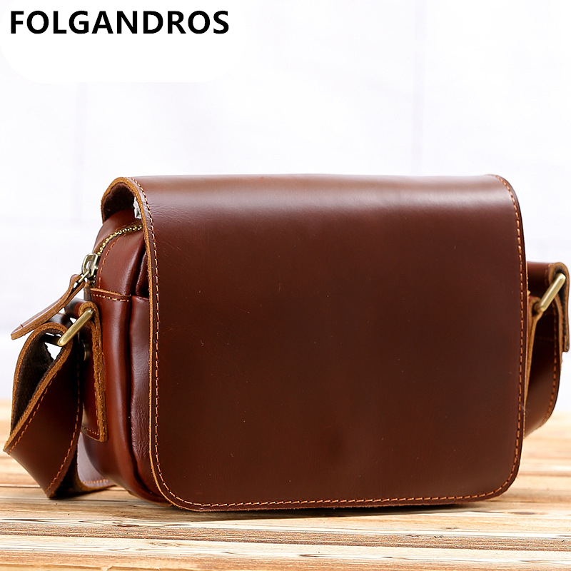 Autumn Winter Men Womens Messenger Bags Genuine Leather Handmade Shoulder Crossbody Bag Vintage Cowhide Luxury Designer HandbagAutumn Winter Men Womens Messenger Bags Genuine Leather Handmade Shoulder Crossbody Bag Vintage Cowhide Luxury Designer Handbag