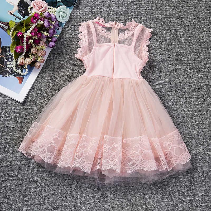 נסיכת ילדה שמלה יפה תחרה לchirstening שמלת ילדי מסיבת ילדה ללבוש מותג בגדי ילדים טוטו שמלות לילדה