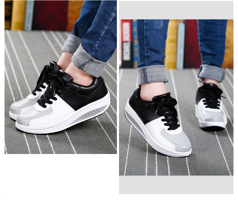 Patchwork Shake Shoes Woman New Leather Platform Women Casual Shoes Lace Up Slimming Ladies Shoes Size 35-40 Walking Shoes ZD61 (17)