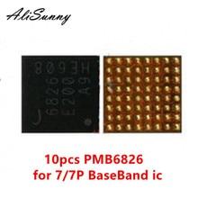 AliSunny 10 個 PMB6826 6826 iphone 7 7 プラスベースバンド PMIC 電源 ic チップインテル BBPMU_RF 交換部品