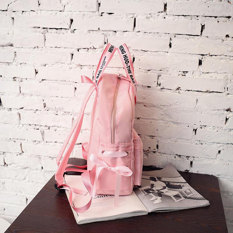 Menghuo Large Capacity Backpack Women Preppy School Bags For Teenagers Female Nylon Travel Bags Girls Bowknot Backpack Mochilas (35)